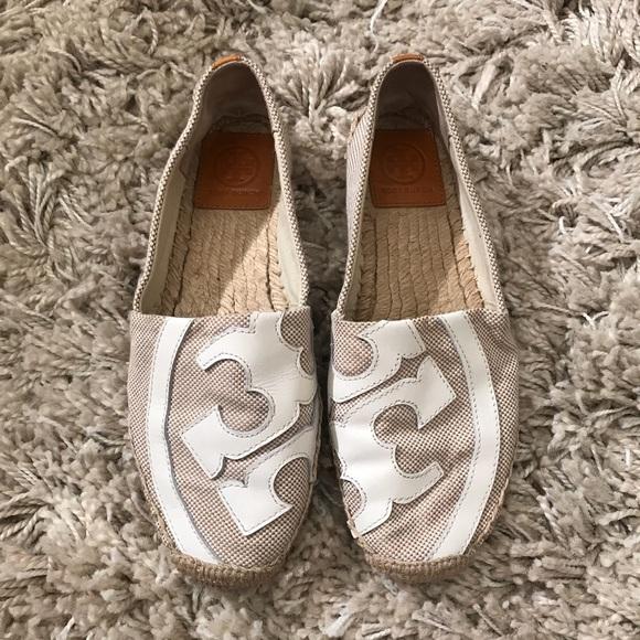 307ee7776ae02c Tory Burch Shoes - Tory Burch Lonnie Cream Espadrilles Flats